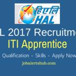 HAL 2017 Recruitment | ITI Apprentice | ITI | Lucknow | Apply Now