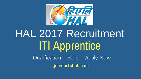 HAL 2017 Recruitment | ITI Apprentice | ITI | Lucknow | Apply Now