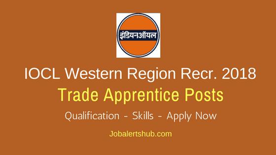IOCL Western Region Apprentice Jobs 2018 – 350 Vacancies | 12th + ITI/Diploma/Graduate | Apply Now