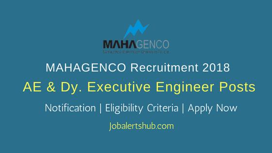 MAHAGENCO Asst. Engineer & Dy. Executive Engineer Posts – 44 Vacancies | B.E/B.Tech | Apply Now