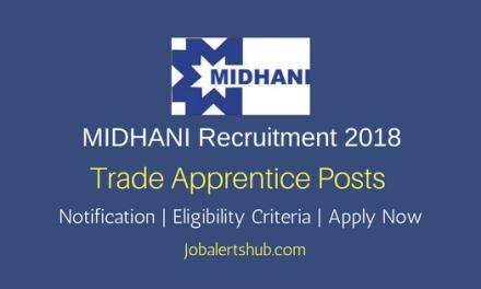 MIDHANI 2018 Trade Apprentice Jobs – 40 Vacancies | 10th + ITI | Apply Now