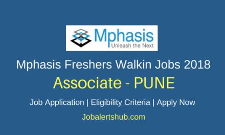 Mphasis 2018 Associate Freshers Jobs Pune | Graduation | Walkin: 01st June'18