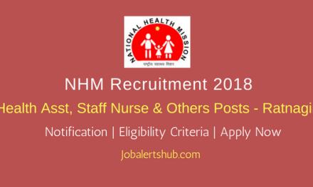 NHM Ratnagiri Health Asst, Staff Nurse & Others – 21 Vacancies | Graduation | Apply Now