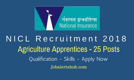 NICL Recruitment 2018 | Agriculture Apprentices – 25 Vacancies | Graduation | Apply Now
