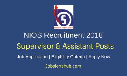 NIOS 2018 Supervisor & Assistant Posts – 44 Vacancies   Graduation   Apply Now