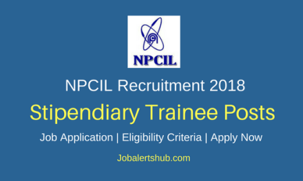 Nuclear Power Corporation of India Limited 2018 Stipendiary Trainee Recruitment 2018 – 179 Vacancies | SSC + ITI, 12th, Diploma & B.Sc | Apply Now
