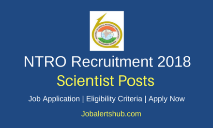 National Technical Research Organisation 2018 Scientist B Posts – 62 Vacancies | Graduation, Master's Degree | Apply Now