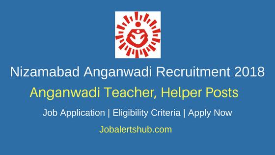 Nizamabad ICDS Anganwadi Teacher & Helper Jobs 2018 – 138 Posts | 10th Class | Apply Now