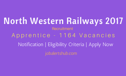 North Western Railways 2017 | Apprentice 1164 Vacancies | 10th Class + ITI | Apply Now
