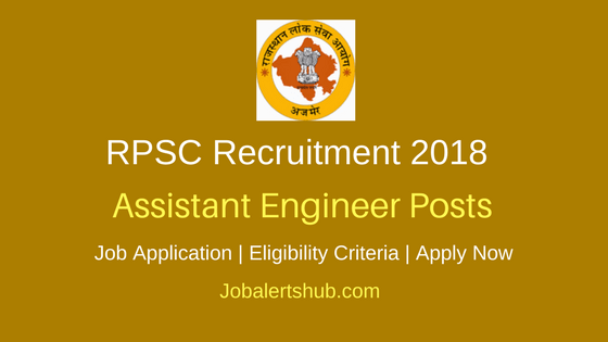 RPSC Rajasthan Public Works Department 2018 Assistant Engineer AEN JEN Posts – 307 Vacancies | Degree | Apply Now