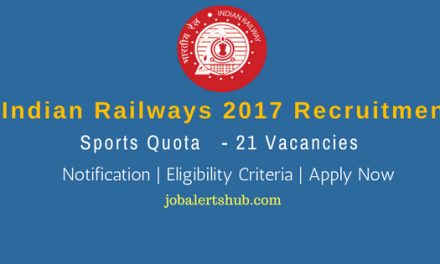 RRC North Central Railways 2017 Recruitment | Sports Quota – 21 Vacancies | 12th/ITI/Degree | Apply Now
