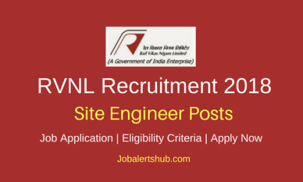 Rail Vikas Nigam Limited 2018 Site Engineer Posts | B.Tech + GATE 2017 Or 2018 Score | Apply Now
