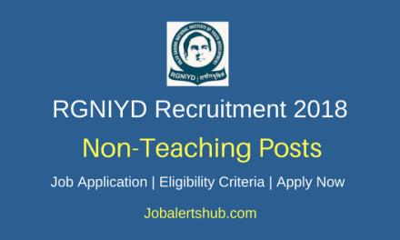Rajiv Gandhi National Institute of Youth Development (RGNIYD) 2018 Junior Assistant Posts – 08 Vacancies | Bachelor's Degree | Walkin