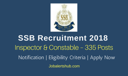 SSB Recruitment 2018 | General & Inspector – 335 Posts | 12th/Degree/PG | Apply Now @ www.ssb.nic.in