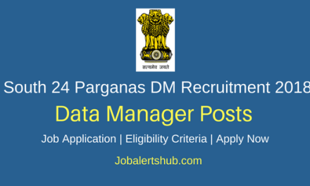 South 24 Parganas District Magistrate Data Manager Jobs 2018 – 16 Vacancies | Graduation | Apply Now