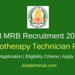 TN MRB 2018 Radiotherapy Technician Posts – 25 Vacancies | Diploma | Apply Now