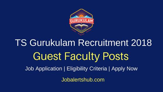 Telangana State Gurukulam TSWREIS 2018 Guest Faculty Posts | B.Tech, Master Degree | Apply Now