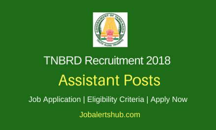 Tamil Nadu Board of Rural Development (TNBRD) 2018 Recruitment Senior Scientist & Head, Steno, Asst & Other Posts – 09 Vacancies | 10th, 12th, Degree, Master Degree, Ph.D | Apply Now