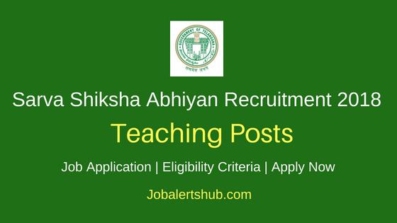 Telangana State Sarva Shiksha Abhiyan (TS SSA) 2018 Teaching Staff Posts – 1050 Vacancies | Degree, Master Degree & PG | Apply Now