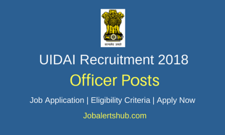 UIDAI 2018 Section Officer & Assistant Section Officer Posts | Apply Now