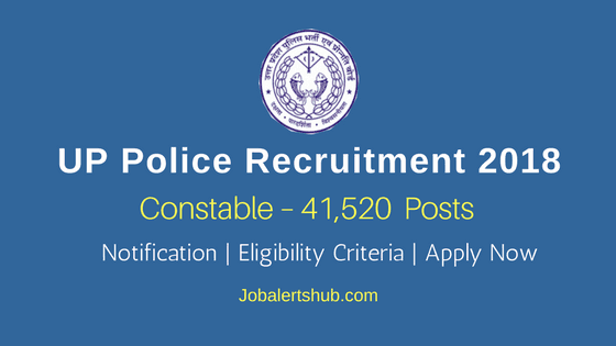 UP Police Recruitment 2018 | Civil Police & Arms Constable – 41,520 Posts | 12th Class | Apply Now @ uppbpb.gov.in