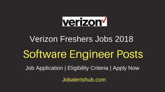Verizon Chennai  2018 Software Engineer Freshers Jobs | Graduation, PG | Apply Now