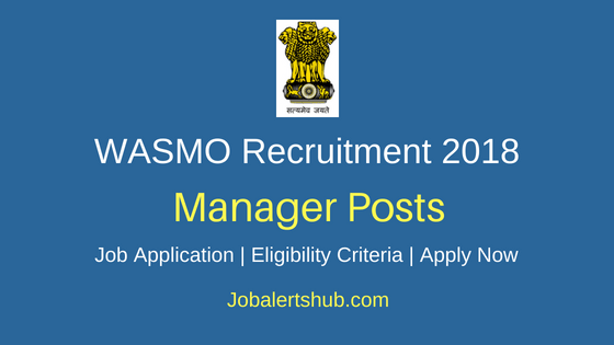 Water and Sanitation Management Organization (WASMO) 2018 Recruitment Assistant Manager (Technical) Posts – 42 Vacancies |B.E/B.Tech | Walkin