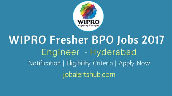 Wipro 2017 Recruitment Freshers | Engineer | Hyderabad | Apply Online