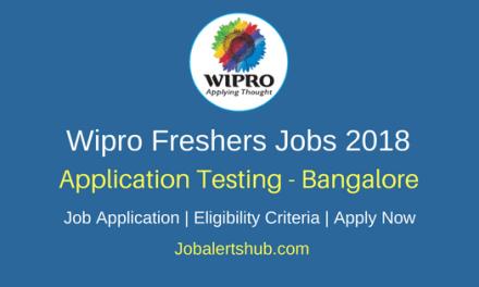 Wipro Bangalore Application Testing 2018 Vacancies   Degree/PG   Apply Now