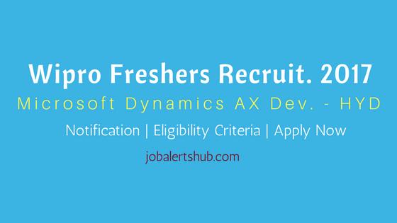 Wipro Fresher Jobs 2017 Hyderabad | Microsoft Dynamics AX | Apply Now