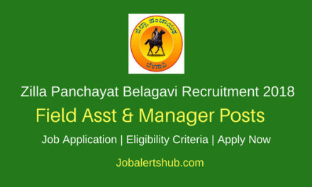 Zilla Panchayat Belagavi 2018 Field Asst & Manager Posts – 63 Vacancies | PUC/Degree/PG | Apply Now