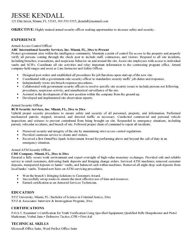 resume description child care resume security supervisor resume sample security supervisor resume