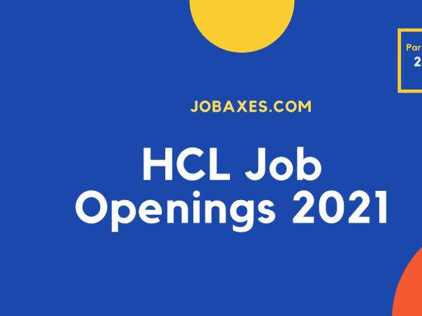 HCL job openings 2021