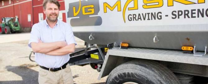 VG Maskin AS ser fördelar med användning av ett branschanpassat rapporteringssystem.