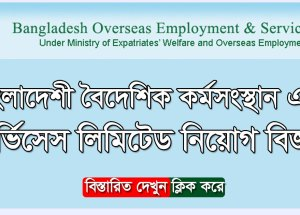 Bangladesh Overseas Employment and Services Limited BOESL – www boesl gov bd