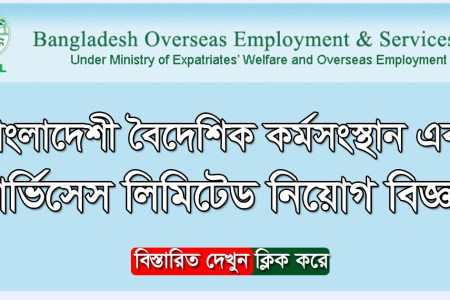 Bangladesh Overseas Employment and Services Limited BOESL  Job Circular 2021