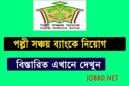 Palli Sanchay Bank Job Circular 2019 -pallisanchaybank.gov.bd