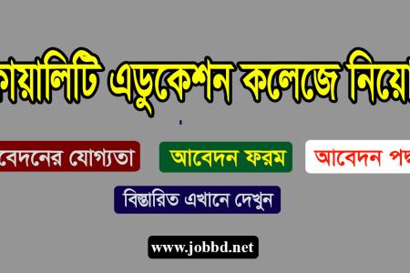 Quality Education College Job Circular 2018 Application Process