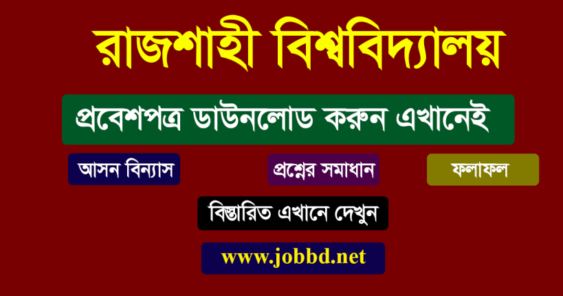 Rajshahi University Admit Card Download 2019-20 | www.ru.ac.bd