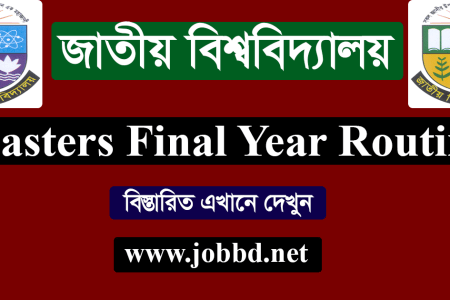 NU Masters Final Year Exam Routine 2020 – www.nu.edu.bd