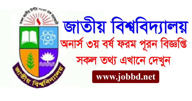 NU Honours 3rd Year Form Fill Up Notice 2021 – www.nu.ac.bd