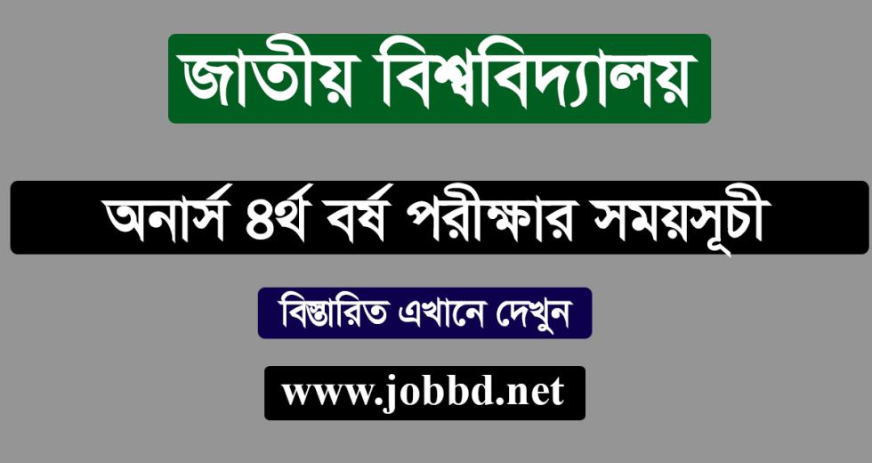 NU Honours 4th Year Exam Routine 2019 – www.nu.edu.bd