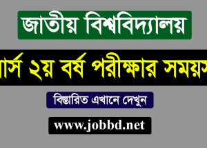 NU Honours 2nd Year Exam Routine 2019 – www.nu.edu.bd