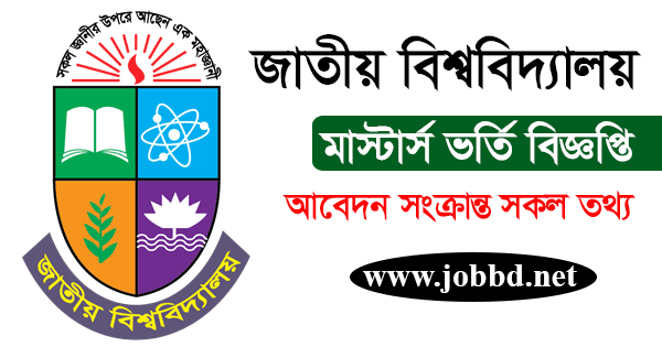 NU Masters 1st Year Admission Circular 2020