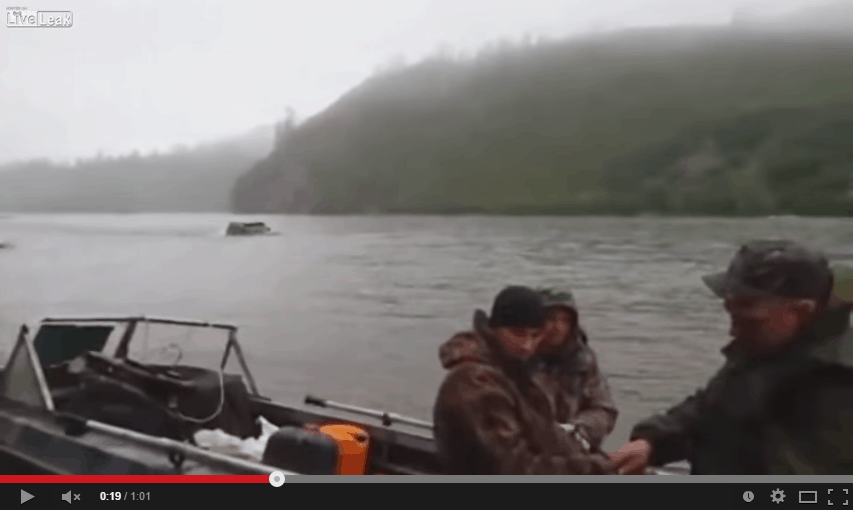Crazy boating Russians