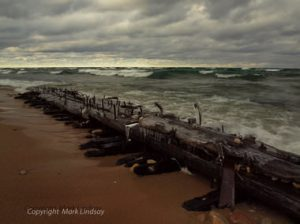 Courtesy Photo | Mark Lindsay The bilge keelson from a shipwreck that historians believe is the schooner Jennie and Annie, which sunk in the Manitou Passage in 1872. The fragment washed up on the Sleeping Bear Dunes shoreline north of Empire in Leelanau County sometime in the last month.