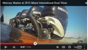 2015 Mercury Marine outboards line up video