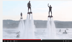 1 Dozen flyboarders all at one time