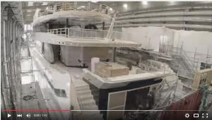 Time lapse of ship being built