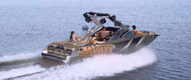 Pavati AL-24 all aluminium wake board boat